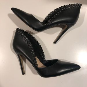 Jessica Simpson Black Studded Heels 8